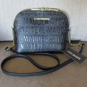 Steve Madden Black Crossbody Logo Bag